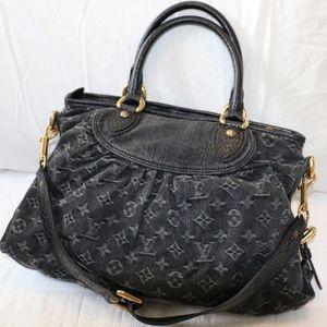 Louis Vuitton Black Monogram Denim Neo Cabby